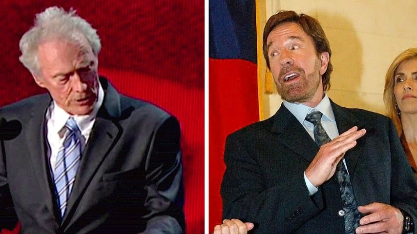 Norris & Eastwood: Skurrile Reden für US-Wahlkampf