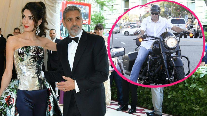 Wegen Amal: George Clooney versteigert Motorrad nach Unfall