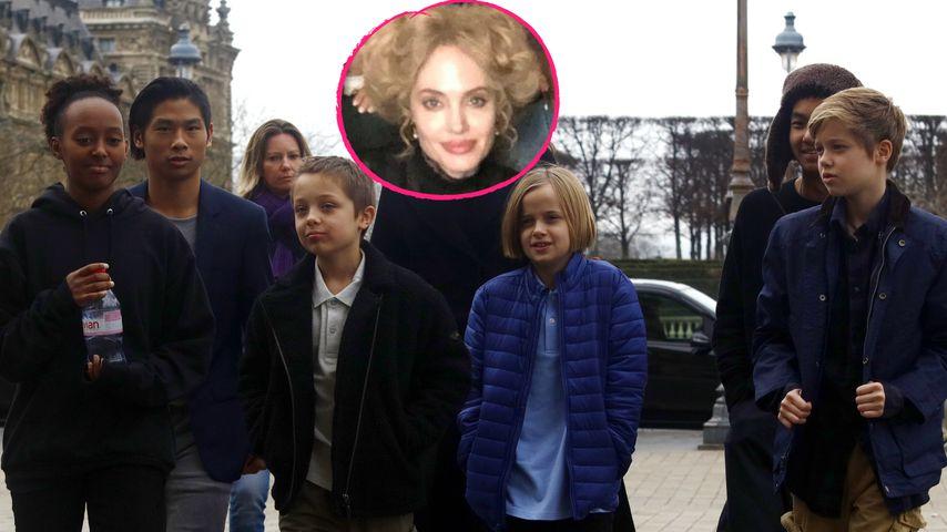 Wie reagierten Angelina Jolies Kinder auf ihre blonde Haare?