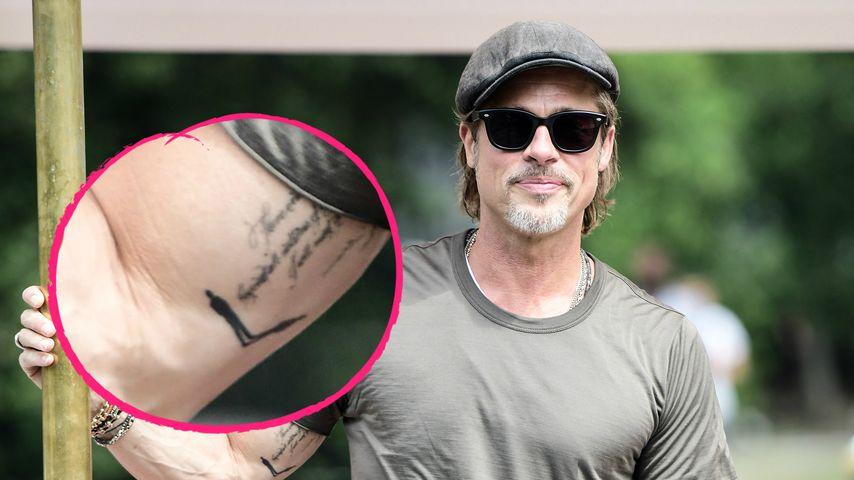 Mann mit Schatten: Was bedeutet Brad Pitts neues Tattoo?