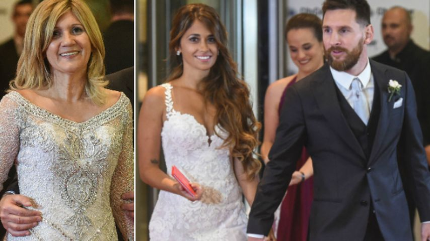 Fieser Fauxpas? Messis Mama trägt an seiner Hochzeit Weiß!