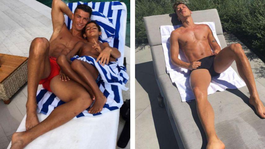 Sexy Mesut: Nationalspieler posiert wie Cristiano Ronaldo