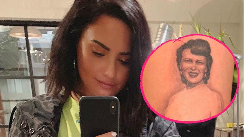 Demi Lovato verewigt ihre tote Uroma mit Tattoo auf dem Arm
