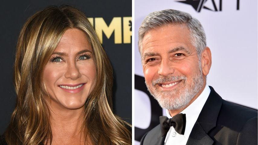 Jennifer Aniston und George Clooney
