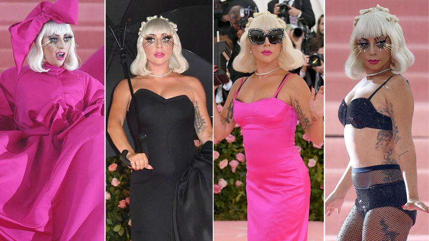 Vier Outfits! Lady Gaga legt Teppich-Strip bei Met Gala hin