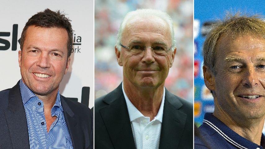 Lothar Matthäus, Franz Beckenbauer und Jürgen Klinsmann, DFB-Ehrenspielführer