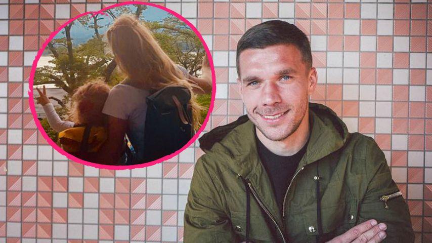 Stolzes Familienoberhaupt: Lukas Podolski zeigt seine Girls!