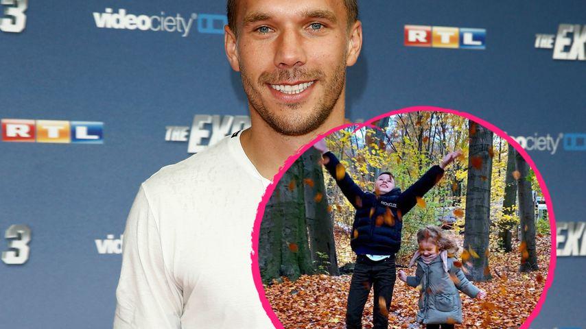 Vollblut-Papa-Poldi: Lukas teilt seltenes Bild seiner Kids!