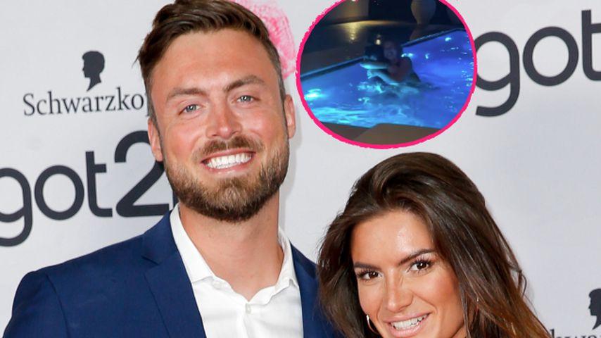 Niko Griesert und Michèle mit Bachelor-Hannah im Urlaub