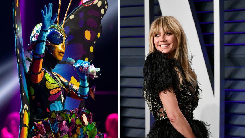 """Crazy Theorie: Ist Heidi Klum """"Masked Singer""""-Schmetterling?"""