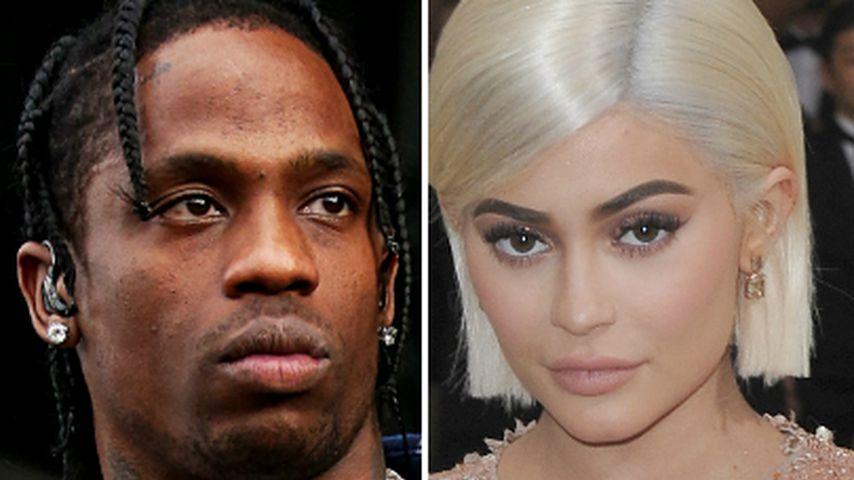 Eifersucht: Travis schirmt Kylie Jenner von Ex-Freund ab!