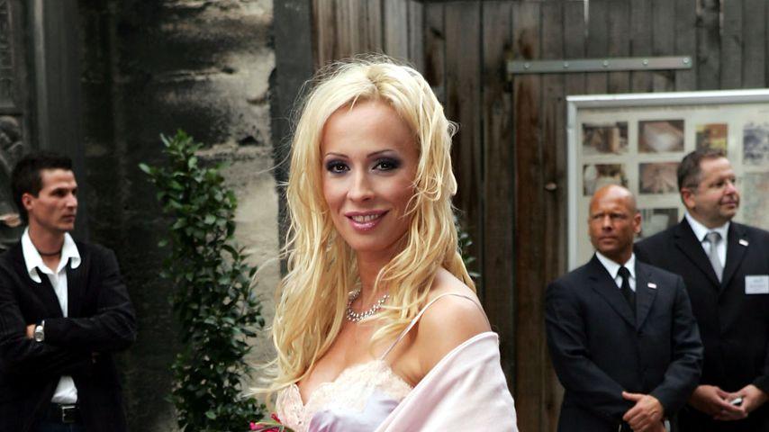 Cora Schumacher auf der Hochzeit von Franjo und Verona Pooth in Wien im Jahr 2005
