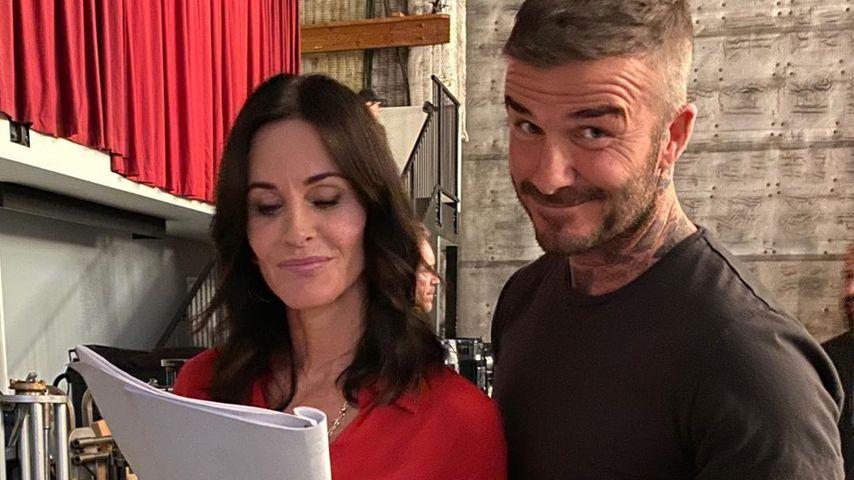 Courteney Cox und David Beckham