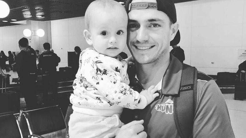 Cricket-Star Cameron Boyce mit seiner Tochter