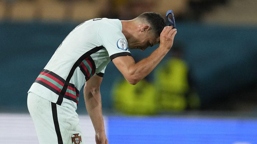 Cristiano Ronaldo beim EM-Achtelfinale in Sevilla im Juni 2021