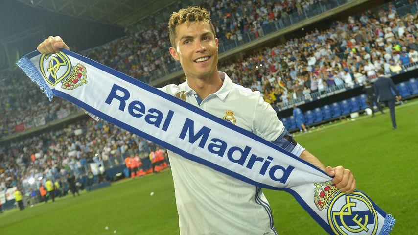Cristiano Ronaldo nach einem Sieg von Real Madrid