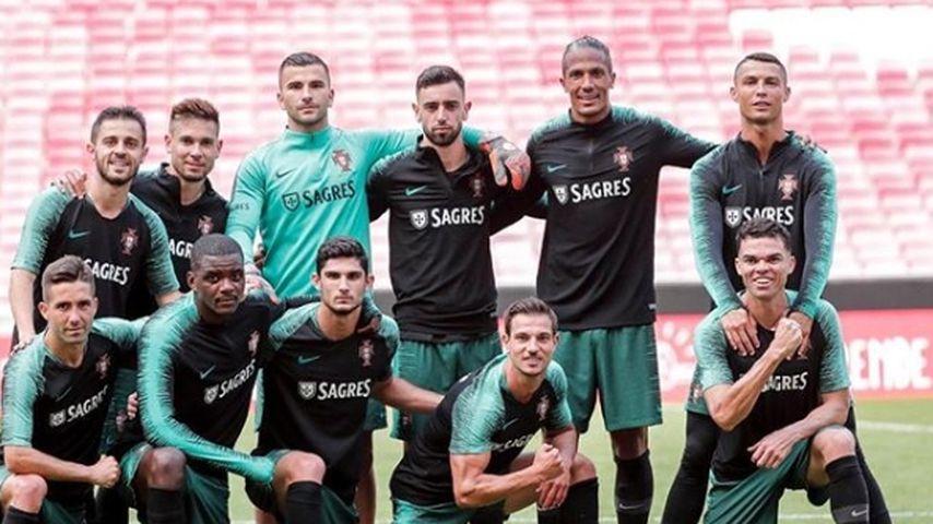 Cristiano Ronaldo und seine portugiesischen Teamkollegen
