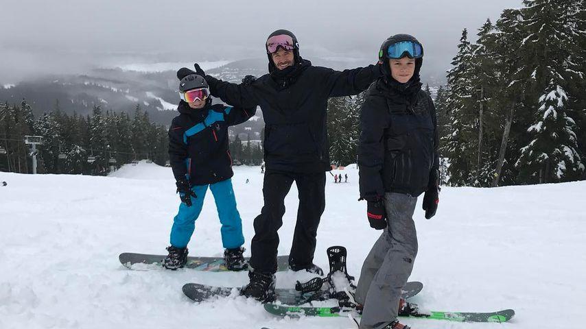 Cruz, David und Romeo Beckham im Urlaub