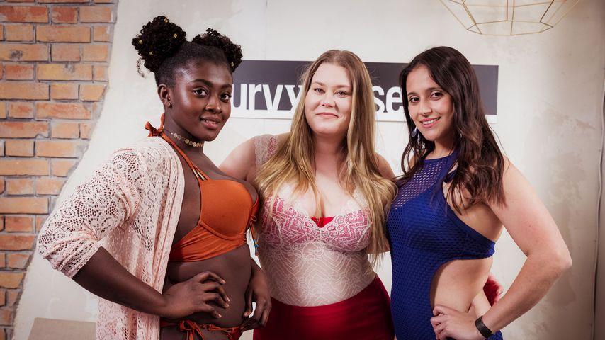 """""""Curvy Supermodel""""-Kandidatinnen Endurance, Nicole und Diana"""