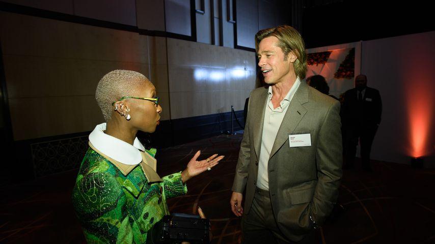 Cynthia Erivo und Brad Pitt beim Lunch für Oscar-Nominierte