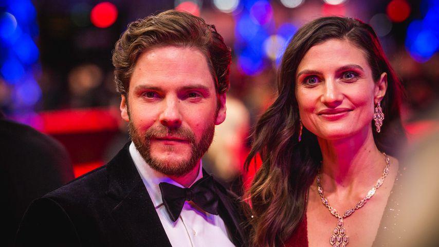 Daniel Brühl und seine Frau Felicitas Rombold bei einer Premiere in Berlin, Februar 2020