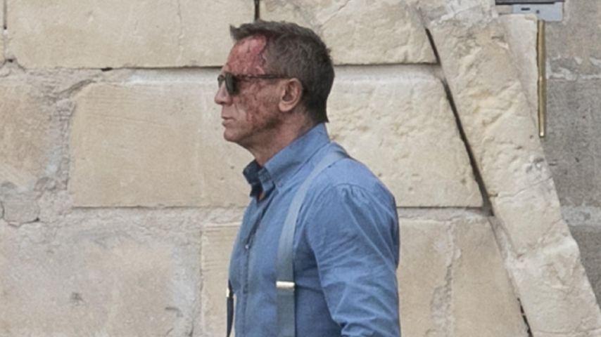 """Daniel Craig während der Dreharbeiten zu """"Keine Zeit zu sterben"""" in Matera, September 2019"""