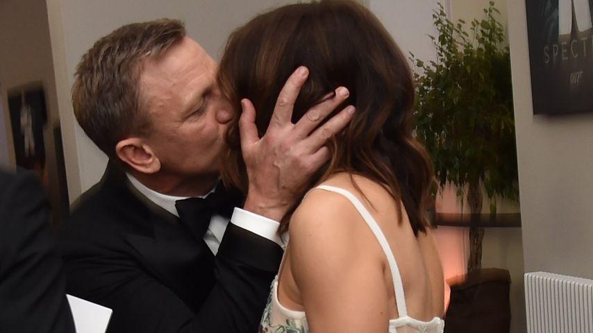 """Auf """"Spectre""""-Premiere: Daniel Craig zeigt allen seine Liebe"""