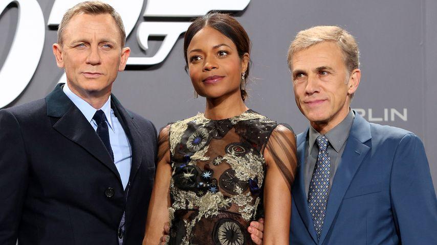"""Daniel Craig, Naomie Harris und Christoph Waltz bei der """"Spectre""""-Premiere in Berlin"""