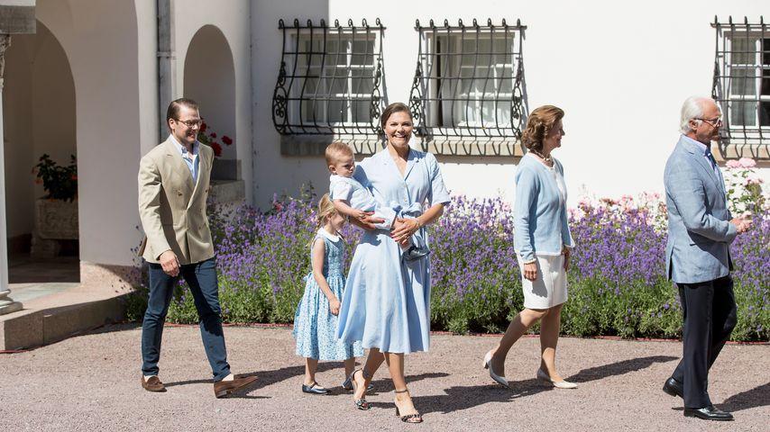 Daniel, Estelle, Oscar, Victoria, Silvia und Carl Gustaf von Schweden