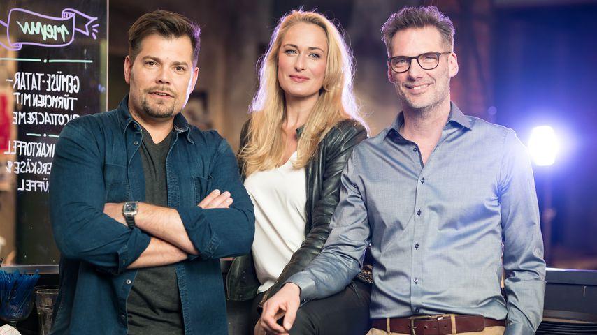 Daniel Fehlow, Eva Mona Rodekirchen und Clemens Löhr, GZSZ-Stars