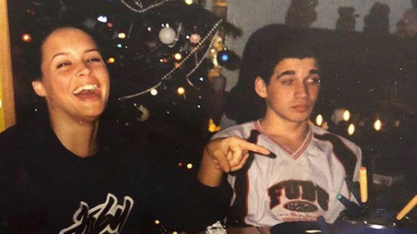 Daniela Katzenberger an Weihnachten 2002