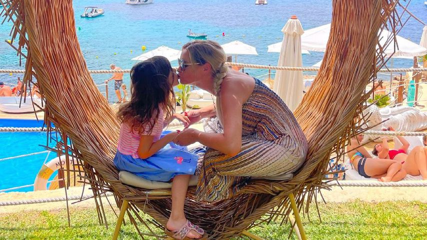 Daniela Katzenberger mit ihrer Tochter Sophia im Juli 2021