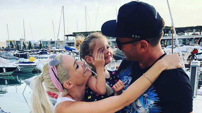 Daniela Katzenberger, Töchterchen Sophia und Lucas Cordalis