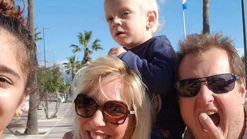 Daniela und Jens Büchner mit ihren Kindern Jada und Diego Armani