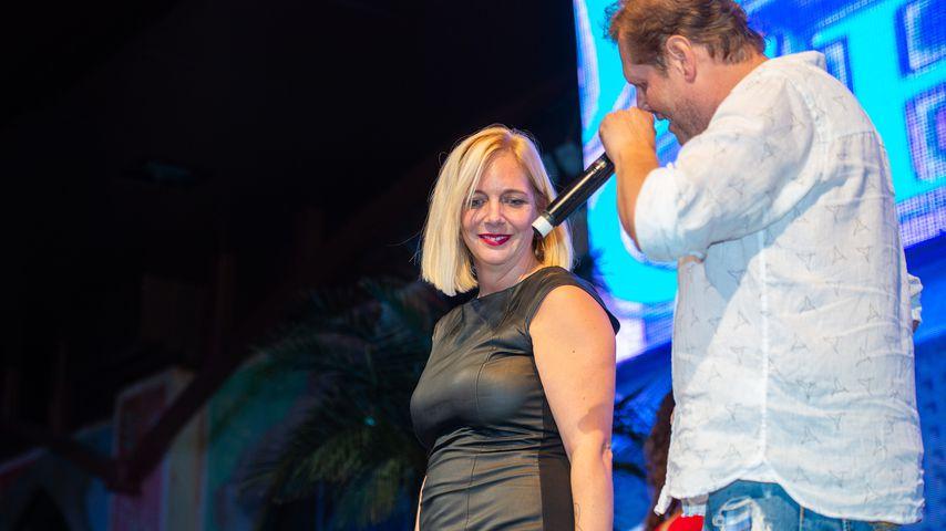 Daniela und Jens Büchner bei einem Auftritt im Megapark