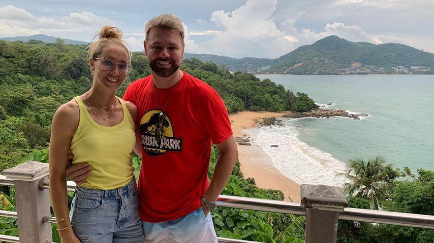 Danielle Parkinson und Brian McFadden im Juni 2019