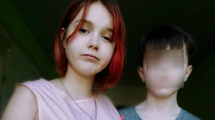 Darya Sudnishnikova und ihr elfjähriger Freund im Jahr 2020