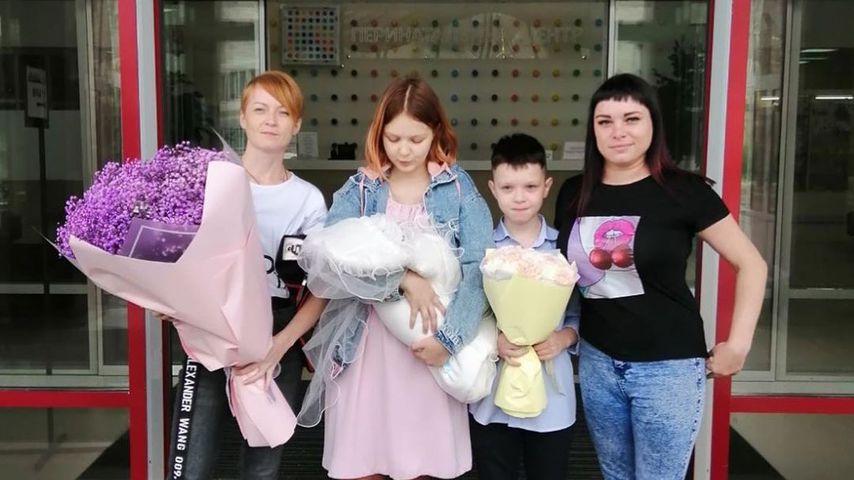 Darya Sudnishnikova und ihre Familie