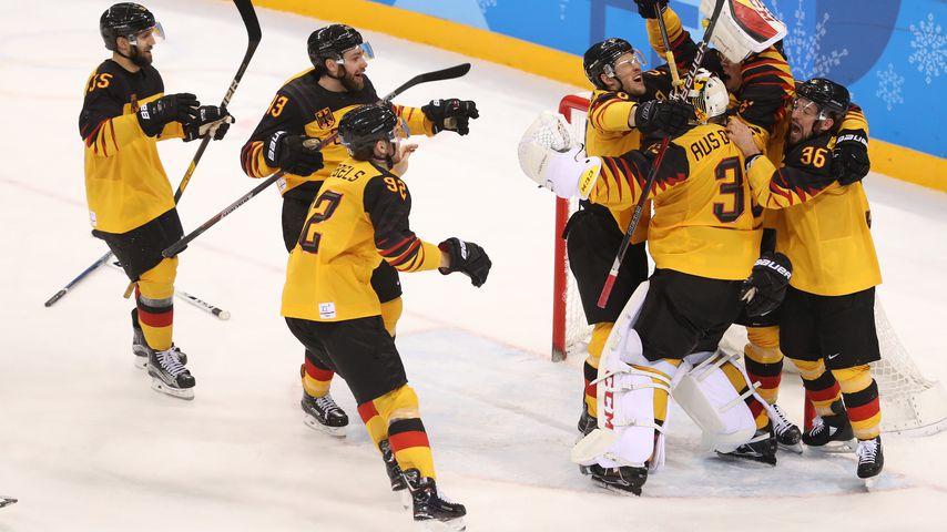 Das deutsche Eishockey-Team nach dem Halbfinale, Olympischen Winterspielen 2018