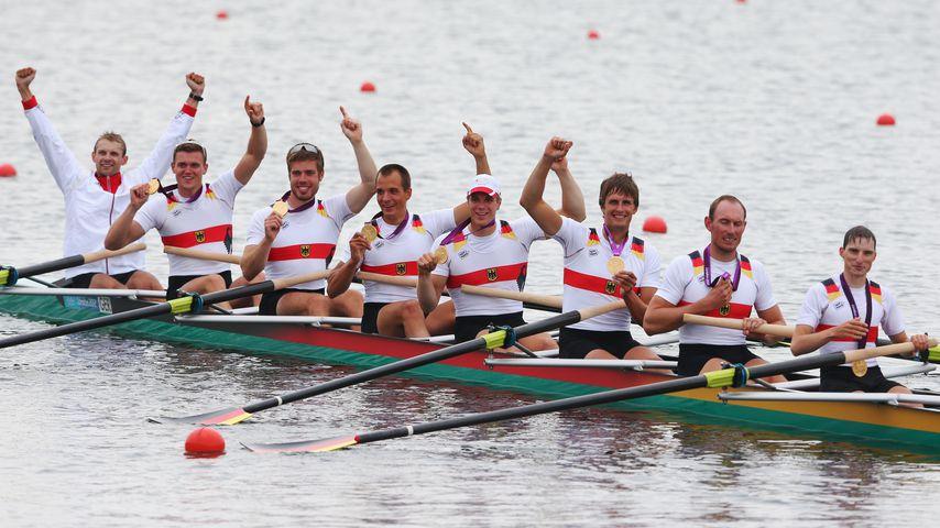 Das deutsche Ruder-Team bei den Olympischen Spielen 2012 in London