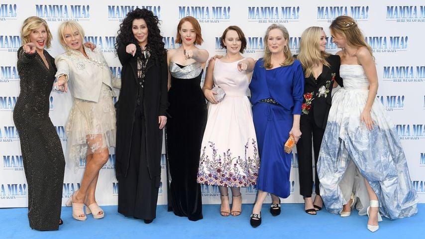 """Das Team von """"Mamma Mia! Here We Go Again"""" bei der Premiere"""