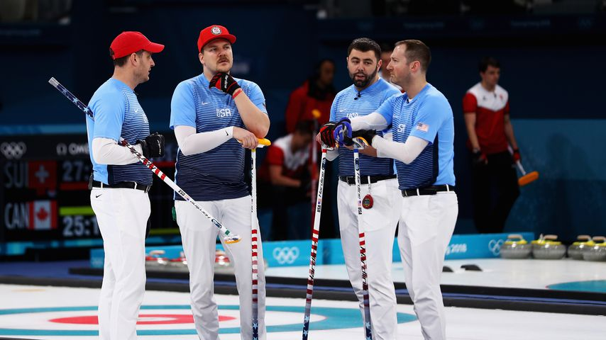 Das US-Curling-Team bei den Olympischen Winterspielen 2018