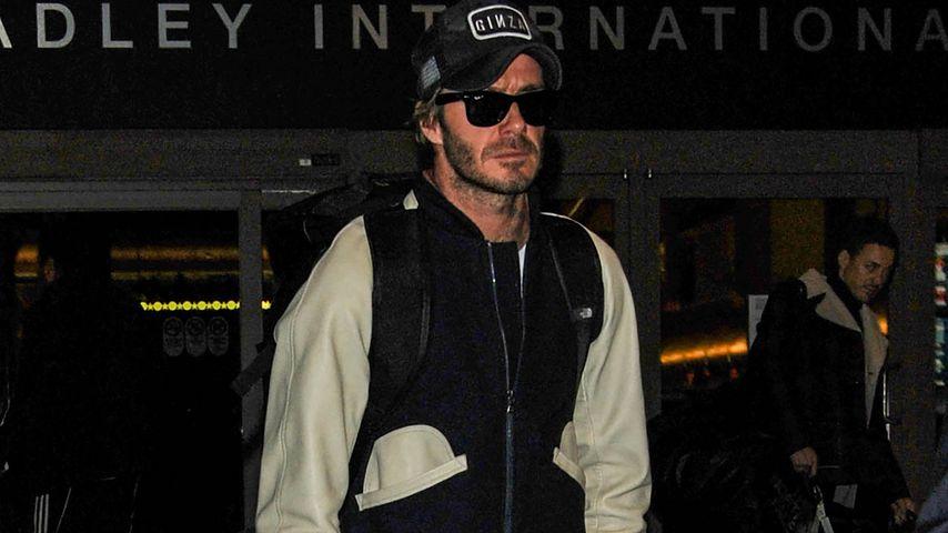 David Beckham am Flughafen in Los Angeles