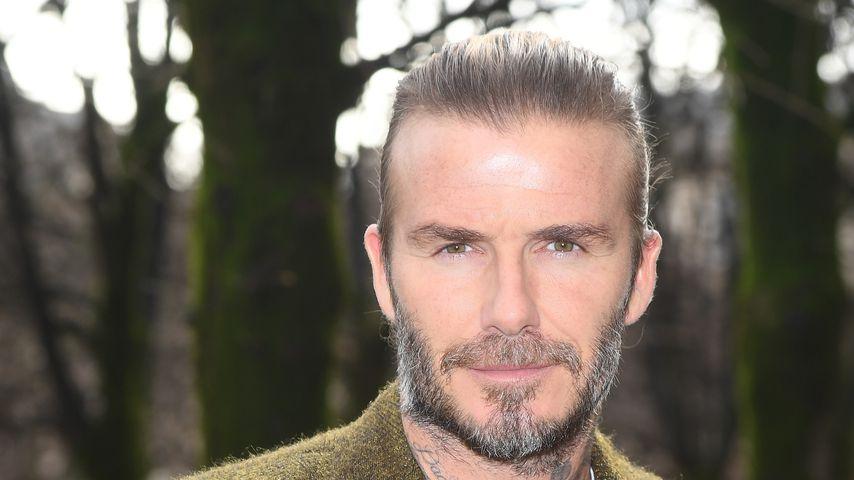 David Beckham bei der Fashion Week in Paris