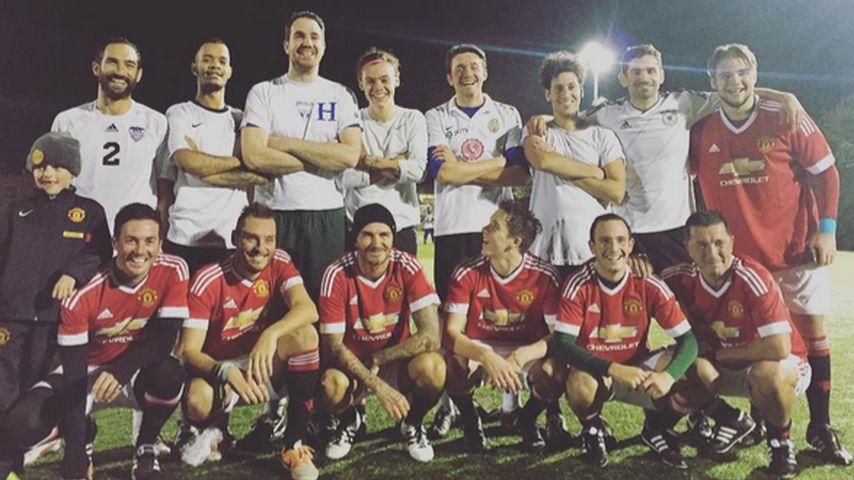 Für guten Zweck: Beckham-Duo kickt mit Harry Styles
