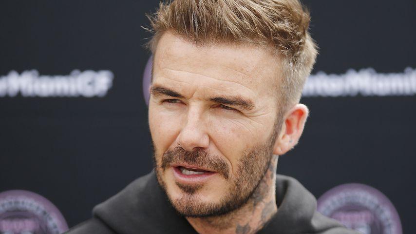 David Beckham bei einer Pressekonferenz im Februar 2020