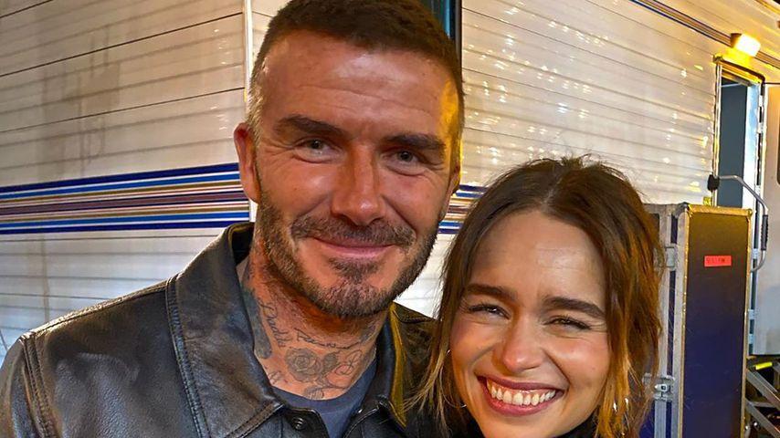 David Beckham und Emilia Clarke bei einem Konzert im November 2019