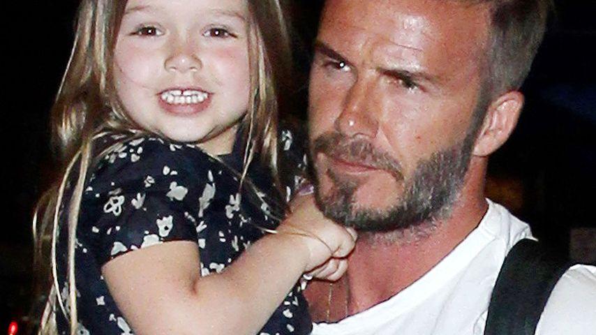 David Beckham: Gemeinsame Bike-Tour mit Töchterchen Harper