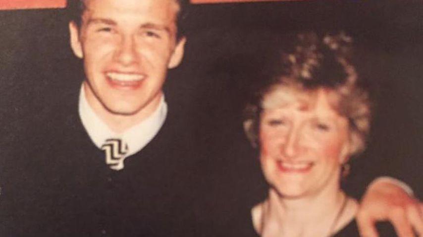 David Beckham und seine Mutter Sandra