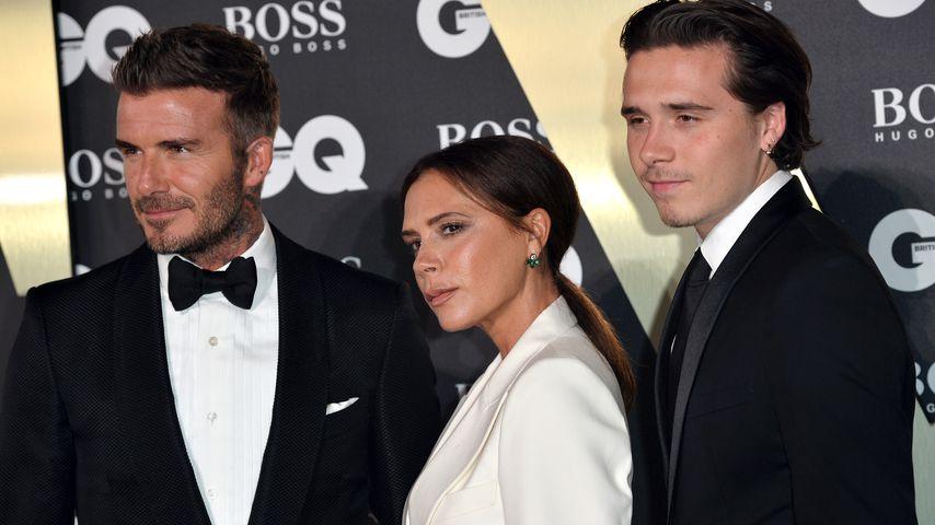 David Beckham, Victoria Beckham und Sohn Brooklyn Beckhahm bei GQ Award 2019